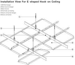 acoustic decorative drop ceiling tiles 2x2 hook on metal ceiling