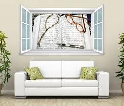 3d wandtattoo fenster türkei koran buch wand aufkleber wanddurchbruch wandbild wohnzimmer 11bd1732 wandtattoos und leinwandbilder günstig