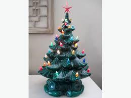 RETRO CERAMIC CHRISTMAS TREES WITH LIGHTS