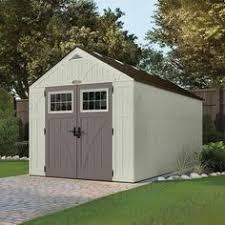 suncast 6x8 everett three plastic shed gardens