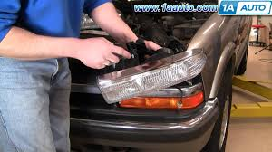 how to install replace headlight chevy s 10 s10 blazer 98 05