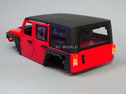 RC Scale Truck Body Shell 1/10 JEEP WRANGLER RUBICON Hard Body V3 + ...