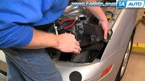 how to install replace headlights and bulbs ford focus 03 04