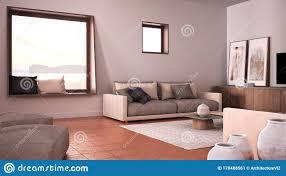 grau und beige wohnzimmer der angenehmen taube mit sofa und