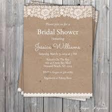 Rustic Bridal Shower Invites