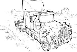 100 Big Mack Truck Semi Printable Coloring Page