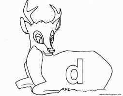 Lowercase D For Deer Printable Alphabet S7150 Coloring Pages