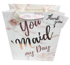 Bridesmaid Gift Bag Thank You Wedding Medium Large