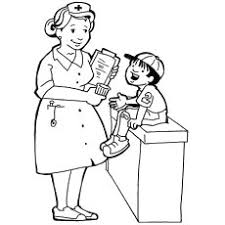 Nurse Talking To Injured Kid Coloring Pages