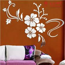 Aliexpress Com Buy Modern Wall Sticker Home Decor Art Diy Flower Vine Acrylic Mirror Mural