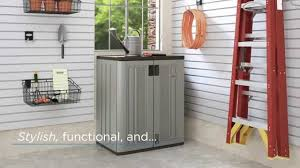 Suncast Plastic Garage Storage Cabinets by Suncast Bmc3600 Base Storage Cabinet Youtube