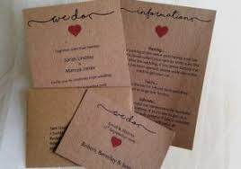 Rustic Wedding Invitations Cheap Best Of 3 Part Set Just GBP2 Each