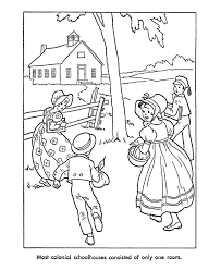 USA Printables Early American Children Coloring Pages