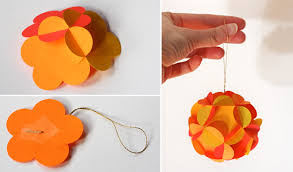 How To Make 3D Paper Ball Ornaments Milomade