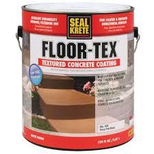 Seal Krete Floor Tex Home Depot by Seal Krete 1 Gal Floor Tex Textured Concrete Coating Tintable