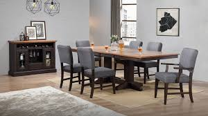 Black Oak Trestle Dining Room Set W Parsons Side Chairs