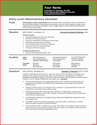 Legal Assistant Resume Profile Unique Entry Level Administrative Free Of Inspirational