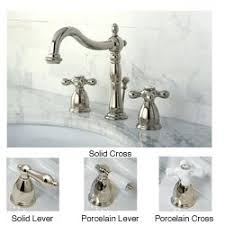 Overstock Moen Kitchen Faucets by Kingston Brass Polished Nickel Widespread Bathroom Faucet Solid