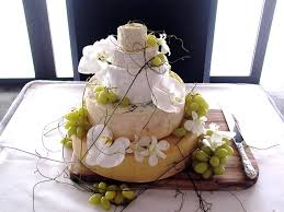 A Sophisticated Take On The Humble Cheese Platter This Wheel Comes Complete With Grapes