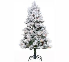 Qvc Christmas Tree Storage Bag by Hallmark 5 U0027 Snowdrift Spruce Tree With Quick Set Technology Page