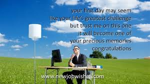 First Day Job Wishes Sms