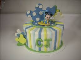 MICKEY MOUSE 1st birthday Cake Could be used for baby shower cake