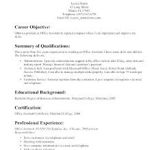 Objectives For Medical Assistant Accomplishments Resumes Objective Sample Administrative