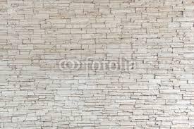 Wall Mural White Stone Tile Texture Brick
