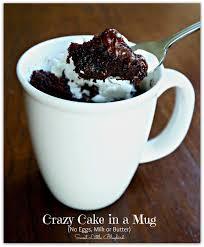 Sweet Little Bluebird Crazy Cake in a Mug No Eggs Milk or