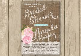 Bridal Shower Invitation Burlap Lace Invitewedding Pink Rustic Floral Invite Digital