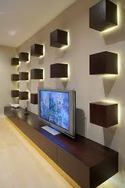 Accent Wall Ideas Home Theater Contemporary With Media Storage Dark Wood Cabinets