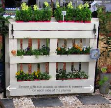 Pallet Planter Needs To Be Secured In Place As It Is Very Heavy