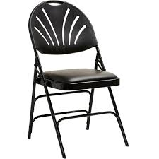 Samsonite XL Fanback Steel And Vinyl Folding Chair - Vinyl Black, Steel  Seat - Polypropylene Black Back - Steel Black Frame - Four-legged Base - ... Gci Outdoor Quikeseat Folding Chair Junior New York Seat Design 550 Each 6pcscarton Offisource Steel Chairs With Padded And Back National Public Seating Grey Plastic Safe Set Of 4 50x80 Cm Camping Fishing Portable Beach Garden Cow Print Wood Brown Color 4pk Chair Terje Black Replacement Vinyl Pad For Resin Wooden Seat Over Isolated White Background Mahogany