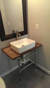 diy galvanized pipe sink stand bath pinterest galvanized