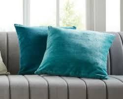 details zu kissenhülle türkis kissen bezug blau dekokissen wohnzimmer reißverschluss 2er