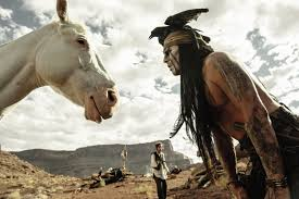 johnny depp as tonto is the lone ranger time