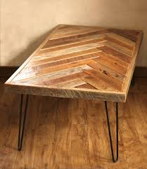 Recycled Pallet Herringbone Style Coffee Table