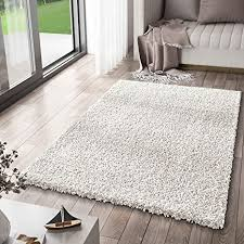vimoda prime shaggy teppich weiss creme hochflor langflor teppiche modern maße 120x170 cm