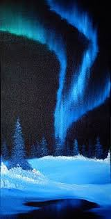 Northern Lights series oil on canvas by Richard Humphrey