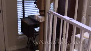 How To Install Baby Gates On Stairway Railing Banisters Without ... Model Staircase Gate Awesome Picture Concept Image Of Regalo Baby Gates 2017 Reviews Petandbabygates North States Tall Natural Wood Stairway Swing 2842 Safety Stair Bring Mae Flowers Amazoncom Summer Infant 33 Inch H Banister And With Gate To Banister No Drilling Youtube Of The Best For Top Stairs Design That You Must Lindam Pssure Fit Customer Review Video Naomi Retractable Adviser Inspiration Jen Joes Diy Classy Maison De Pax Keep Your Babies Safe Using House Exterior