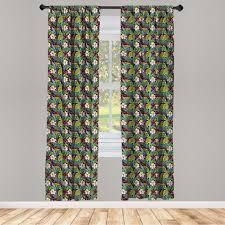 gardine fensterbehandlungen 2 panel set für wohnzimmer schlafzimmer dekor abakuhaus pflanze exotische natur bild kaufen otto