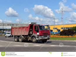 Dump Truck On The Olympic Avenue In Mytishchi. Editorial Stock Photo ...