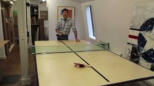 how to make a ping pong table by jon peters youtube