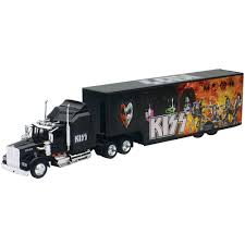 Collectible Detailed Kiss Rock Band Truck And Trailer 1:43 Scale Die ... Custom Diecast Semi Trucks That Aint My Truck Accsories Tonka Die Cast Big Rigs Long Haul Semitruck Toyworld Cheap Find Deals On Line At Amazoncom Peterbilt With Flatbed Trailer And 2 Farm Tractors Mega Hauler Carrier Monster Boys Toy Replica Of Ankrum Trucking 379 Dcp 30662 A Welly 132 Kenworth W900 Tractor Model Wsi Tim Kuijl Mack F700 012226 Diecast Scale Truck Model Truckmo World Tech Toys Diehard 148 Rc 8123010761 Ebay Diecast Winross Wner Semi Truck Trailer Toy Trucker Newray Ca Inc Dmb Models Specialist Suppliers 150 Scale
