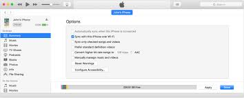 Sync your iPhone iPad or iPod touch with iTunes using Wi Fi