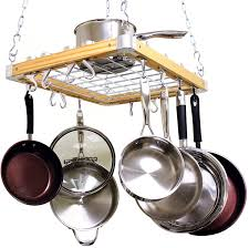 Amazon Cooks Standard Ceiling Mounted Wooden Pot Rack 24 by