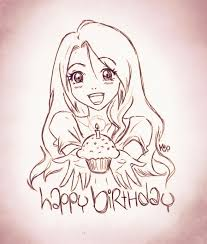 Pencil Sketch Alone Happy Birthday Birthday Anime Girl Doodle By Ladyinsilver Deviantart