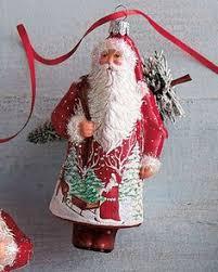 patricia breen christmas ornament santa poeticus pearl 2002 2035