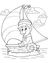 DOWNLOAD Sailboat Summer Coloring Page