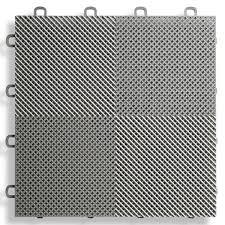 Perforated Modular Floor Tile Gray